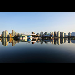 clearly false creek. (kvdl) Tags: reflection skyline vancouver dawn downtown cityscape britishcolumbia falsecreek condos 5050 canonef1740mmf40lusm kvdl