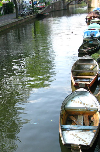 row of boats