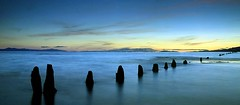 Iona Dusk (Christopher J. Morley) Tags: longexposure canada yvr ionabeach 10seconds justaftersunset beutifulbritishcolumbia platinumheartaward summer2009 100commentgroup saariysqualitypictures nearvancouverairport firstshootwiththenewtripod asmylastone seemstohave2legsnow