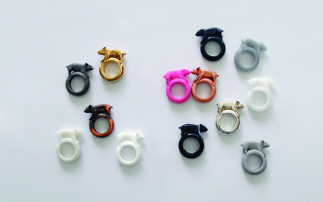 FOC Ted Noten - Pig rings by Freedom Of Creation