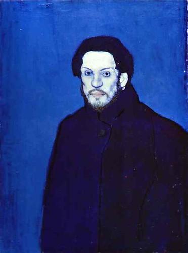 picasso blue period self portrait. Pablo Picasso - Self-portrait