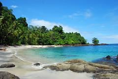 postal caribeña (Sara Montoya) Tags: blue sea beach azul pacific selva playa bleu jungle plage