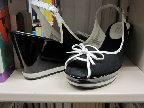 black and white shoes patent target