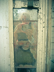 No.297 (_cassia_) Tags: camera reflection me self wednesday grey mirror brighton paint distorted decay august dirt 5th 365daysincolour