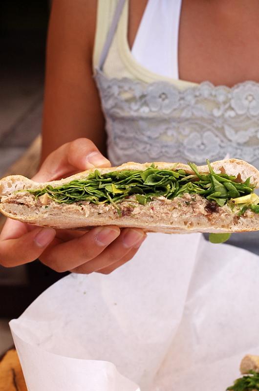 delicious tuna sandwich