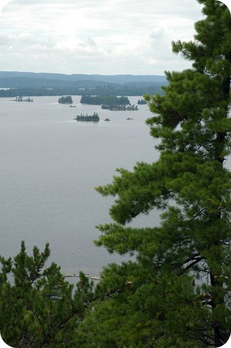 View from High Rock on Lake Temagami