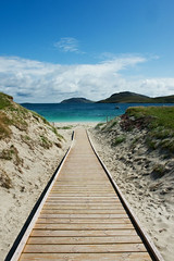 Ramp to the Beach, Vatersay (www.bazpics.com) Tags: ocean park trip sea summer vacation favorite holiday west beach nature water beauty coral strand landscape island islands coast scotland sand scenery ramp walks paradise tour view place natural crystal walk parking urlaub scenic shell scottish places august run visit location east clear highland scot beaches caravan favourite barra isle westernisles 2009 causeway crystalclear highlandsislands outerhebrides vatersay castlebay isleofbarra highlandsandislands isleofvatersay