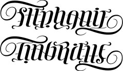 """Stephanie"" & ""Gabrielle"" Ambigram"