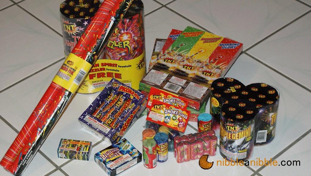 Bundle of fireworks