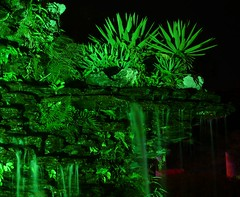 Zhuhai - Eerie Green Artificial Waterfall (cnmark) Tags: china light holiday color colour green night geotagged hotel noche waterfall nacht artificial eerie resort guangdong noite  cascade nuit notte zhuhai nachtaufnahme   otw  allrightsreserved jida  geo:lat=22242471 geo:lon=113577926