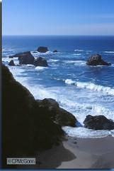 Big Sur Dream (Carrie McGann) Tags: ocean california blue film beach water nikon rocks bigsur intersting