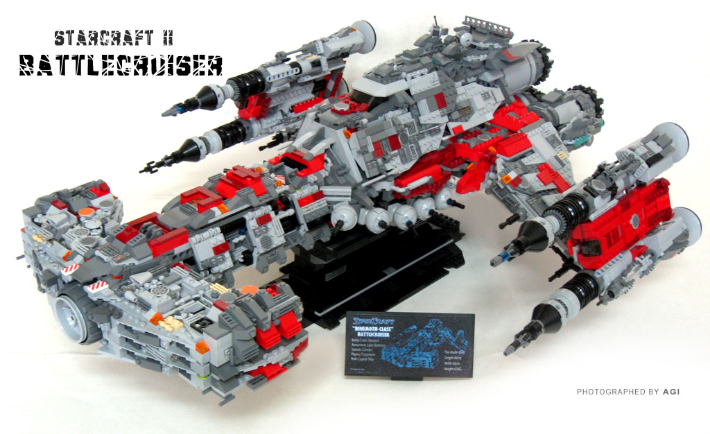 Moc Starcraftterrain Battlecruiser Lego Sci Fi Eurobricks Forums