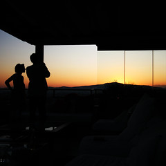 Sunset. Silhouette. {Explored!} (edwardkb) Tags: light sunset luz silhouette hotel glow athens greece roofterrace freshhotel