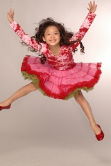 Jumping for Fashion Joy (msszroberts) Tags: fashion kid jump jumping joy joyful hautecouture excitement excite brilliant glee ecstatic gleeful exhilaration girlygirl thrilling kidfashion childfashion msszroberts