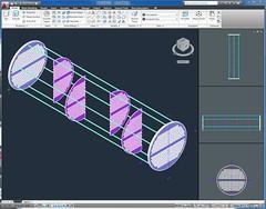 3D Heat Exchanger Tube Bundle in AutoCAD 2010