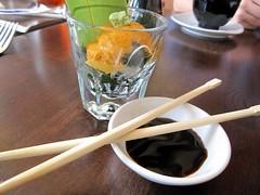 zen on ten - uni sashimi shot style