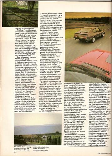 1984 Alfa Romeo Gtv6. Alfa Romeo GTV6 Vs Ford Capri