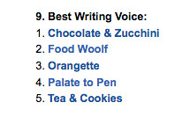 I'm nominated for a food writing award!