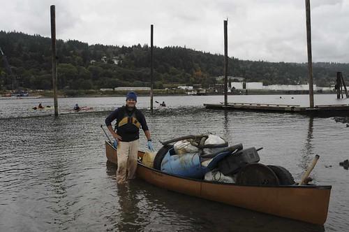 Canoe barge