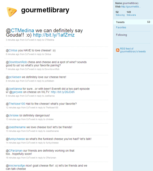 @GourmetLibrary Tweets