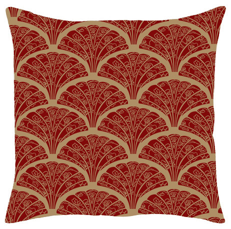 Lace Fan Deep Red