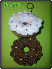 ♥ De Glass o Chocolate? ♥ (PrenD-T♥) Tags: cute keyring key sweet chocolate crochet donuts donut kawaii amigurumi llavero tejido prendt