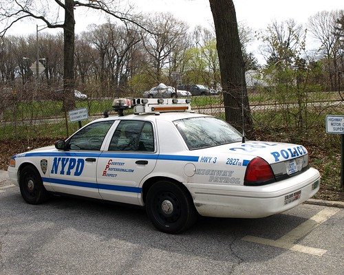 Nypd Highway Patrol Unit  Ford Crown Victoria Rmp Police Car Queens New York