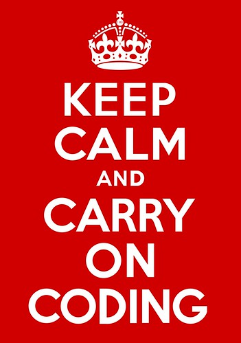Keep Calm and Carry On Coding Poster