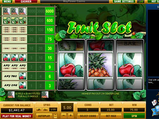 Fruit Slot 1 Line slot game online review