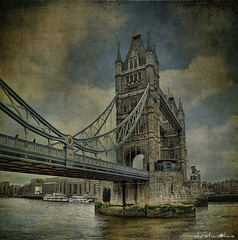Tower Bridge (christian&alicia) Tags: city inglaterra bridge england building london tower texture textura monument photoshop n