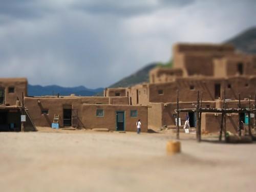 Tiltshift of Taos Pueblo