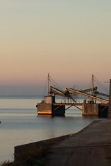 La primera llum sobre les installacions salineres (sa Canal) (esteperol) Tags: sea sunrise geotagged mar salinas ibiza eivissa sessalines salines