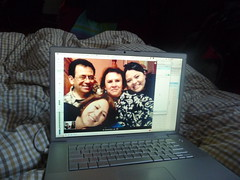 My lovely family back in Mexico, where the New Year came one day after. Video chatting is so awesome.