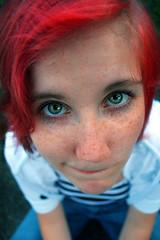 JusT Having Fun (Models & Nature) Tags: red portrait cute green girl female hair model eyes close head best bubble soe catchlight blueribbonwinner otw flickrsbest canonrebelxti shieldofexcellence impressedbeauty aplusphoto betterthangood theperfectphotographer