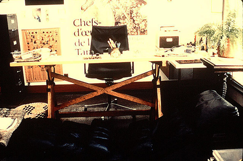 Charles Eames' desk and workspace