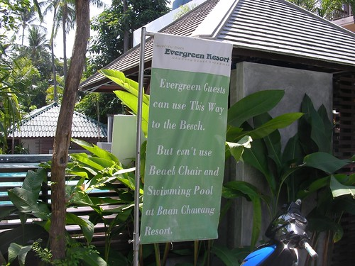 Koh samui Evergreen resort path0