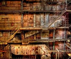 Lets go upstairs! (Batram) Tags: abandoned industry stairs decay explore urbanexploration powerplant kraftwerk frontpage cauldron industrie powerstation hdr kessel urbex braunkohle browncoal lostplace batram vockerode vebkraftwerkeelbe veburbexthuringia vanishingextraordinarybuildings
