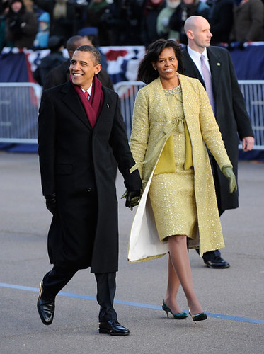Inauguration Day 2009: The Obamas walk along the parade route by USA TODAY.