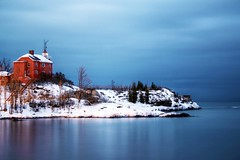 Lighthouse Twilight (johndecember) Tags: lighthouse up michigan album lakeshore upperpeninsula lakesuperior marquette hdr mqt qtpfsgui photoscape replacedhdr