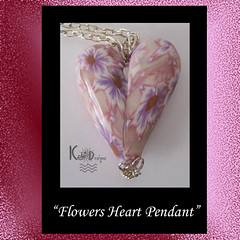 Flowers Heart Pendant