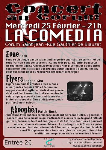 Présentation des groupes du concert du 25/02/09 à Comedia clermont-ferrand