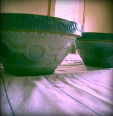 blue ombre bowls