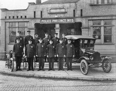 Seattle Police Department, Precinct 5, 1921 (Seattle Municipal Archives) Tags: seattle 1920s vintage washington motorcycles historic motorcycle vintagecars policeofficers policemen columbiacity rainiervalley policestations modeltford seattlepolicedepartment seattlemunicipalarchives