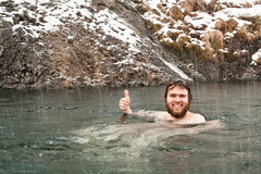 Thumbs up (WildernessMed87) Tags: snow hail naked iceland hotspring sergiy canonef24105mmf4lisusm seljavellir
