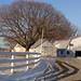 snow barn driveway