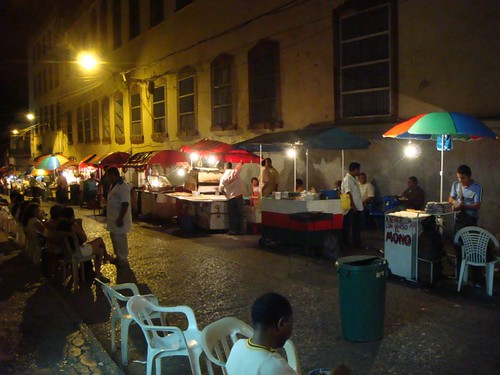 Sincelejo night food stalls...