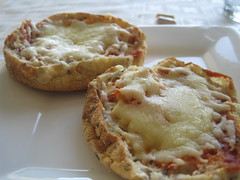 English muffin with cheese
