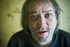 Jean Dubois 53 ans (Benoit.P) Tags: man eye art trash mood montral benoit mtl bokeh strangers stranger expressive troisrivieres mauricie tr homme paille portrai troisrivires benoitp benoitpaille