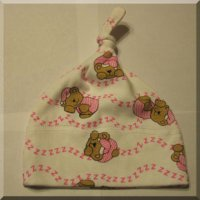 Sleepy Bear Knotted Infant Hat Pink