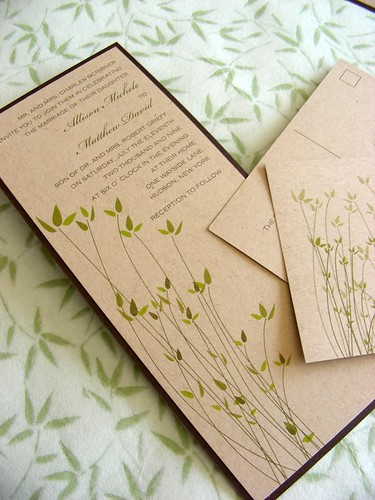 DIY Wedding Invitations Go Eco-Chic - Green is the New Ivory
